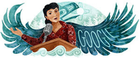 Michaela Goade's Google Doodle of Alaska Native civil rights champion Elizabeth Peratrovich