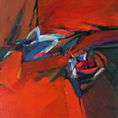 detail from Ned Wert's painting Tocado
