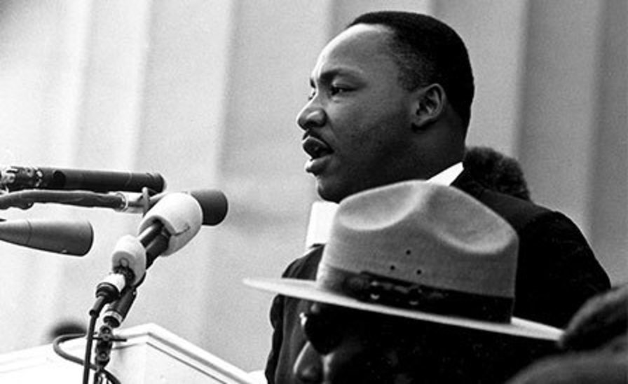Martin Luther King Jr. speaking during the March on Washington in 1963