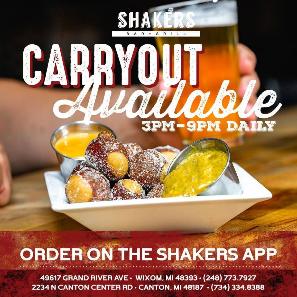 Order Carryout on our Shakers App!