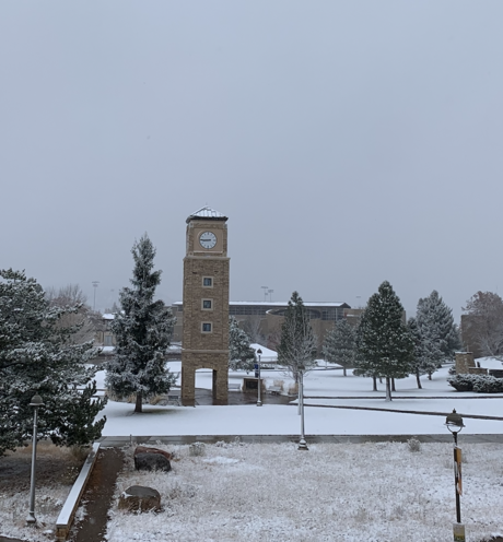 Snowy Fort Lewis College campus