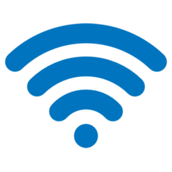 Blue wi-fi fan