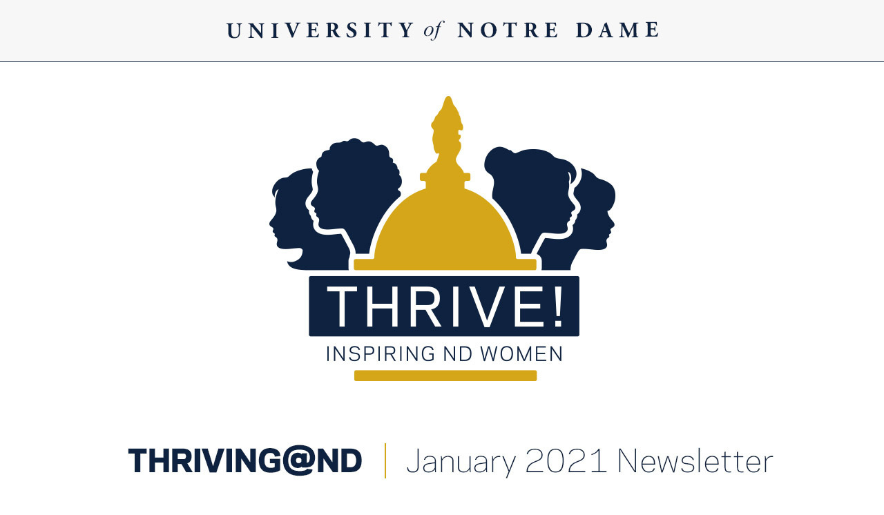 Thriving@ND newsletter Jan 2021