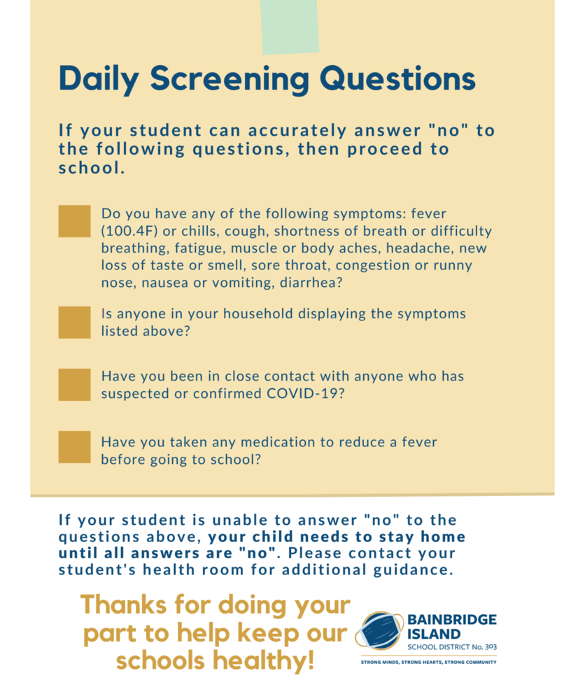 Daily Screening Questions