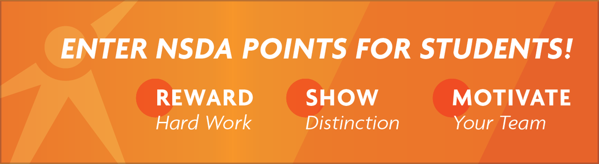 Enter NSDA Points for Students! Reward Hard Work, Show Distinction, Motivate Your Team
