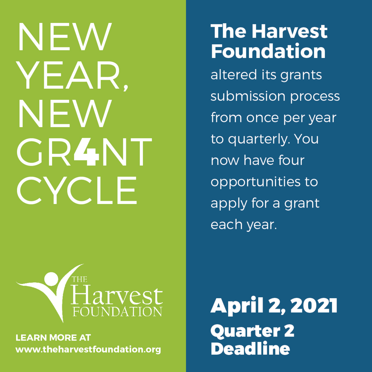 New Grant Cycle