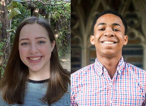 A dual portrait of Bailey Bogle (left) and Corey Pilson (right).
