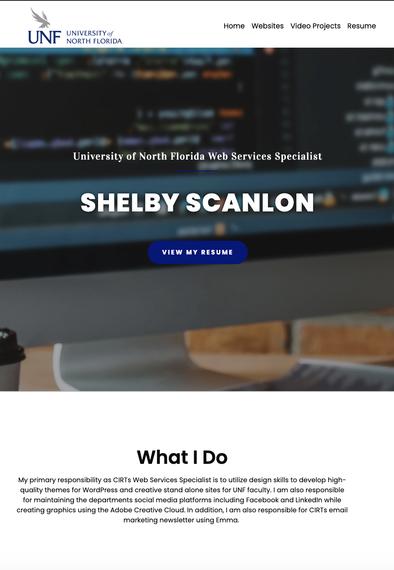 shelby scanlon portfolio website