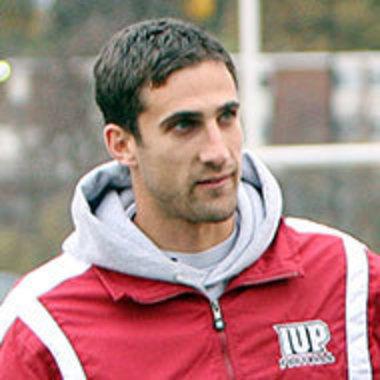 Nick Sirianni while coaching at IUP (Indiana Gazette photo)