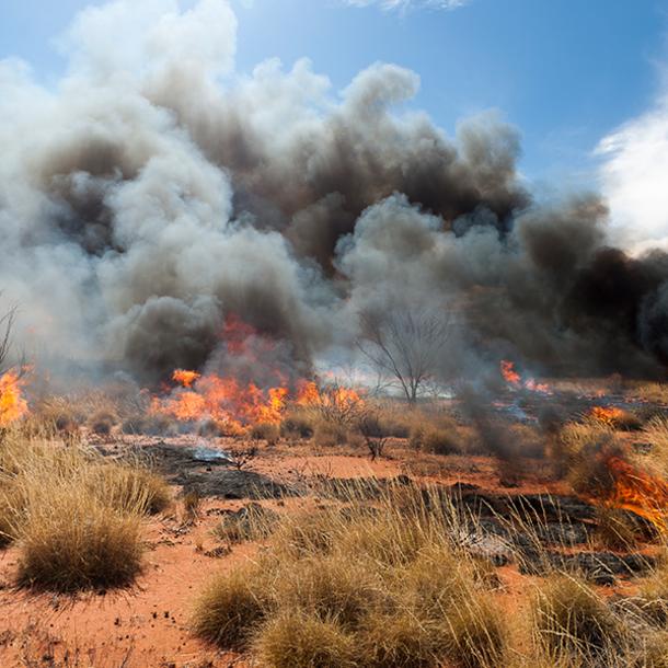 wildfire smoke in Australia