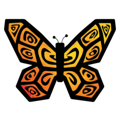 Orange butterfly icon