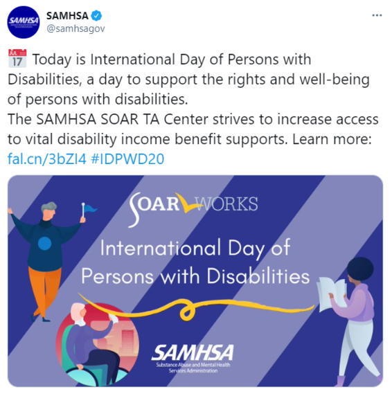 SOAR Twitter Post: International Day of Persons with Disabilities
