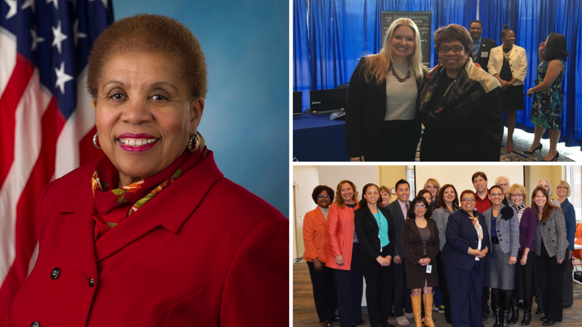 Carolyn W. Colvin portrait and her attendance at SOAR events