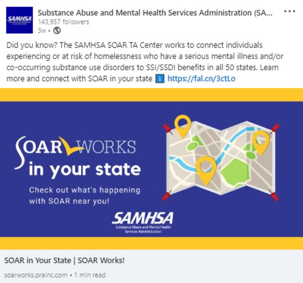 SOAR LinkedIn Post: SOAR in Your State