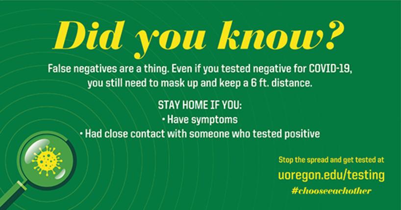 False negative test graphic