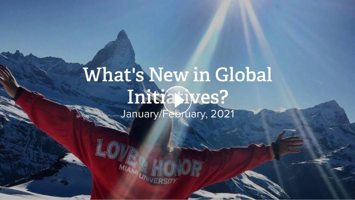 What's new in Global Initiatives Jan/Feb 2020
