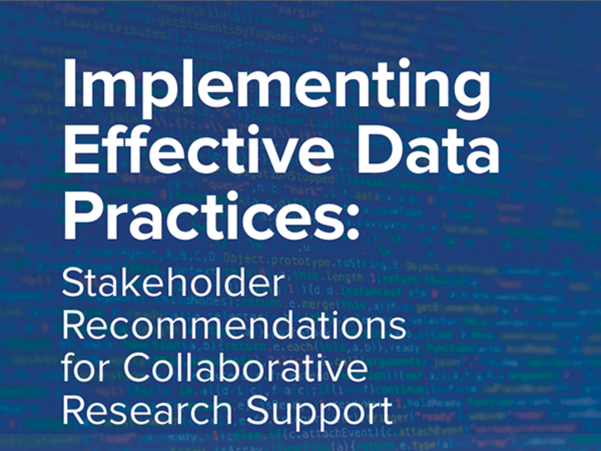 cropped cover of report on implementing effective data practices