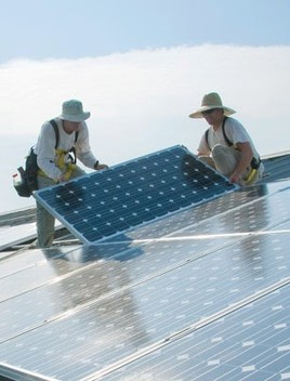 Photo of solar panel installation