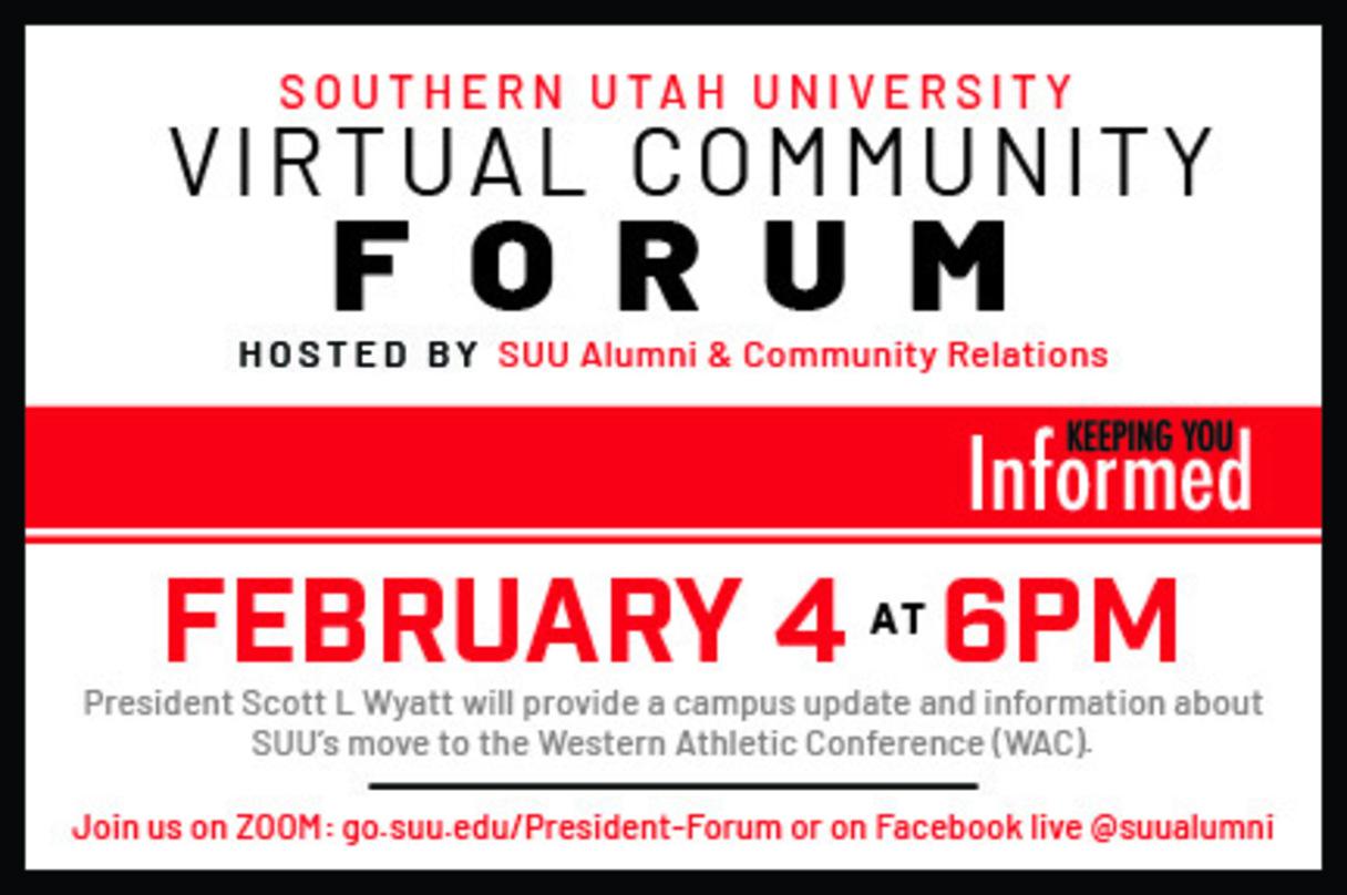 February 2021 Virtual Community Forum