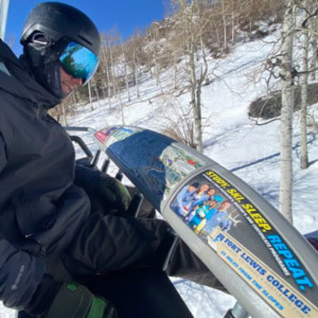 FLC ad on ski lift