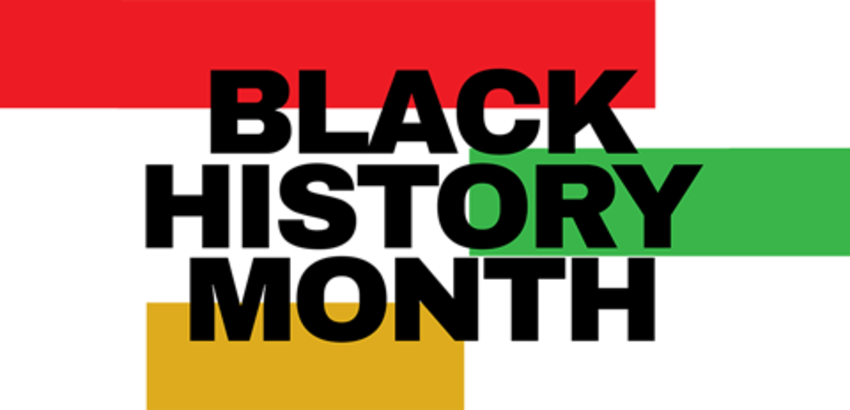 Banner for Black History Month, link to events for Black History Month