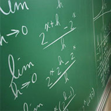 chalkboard with math equations