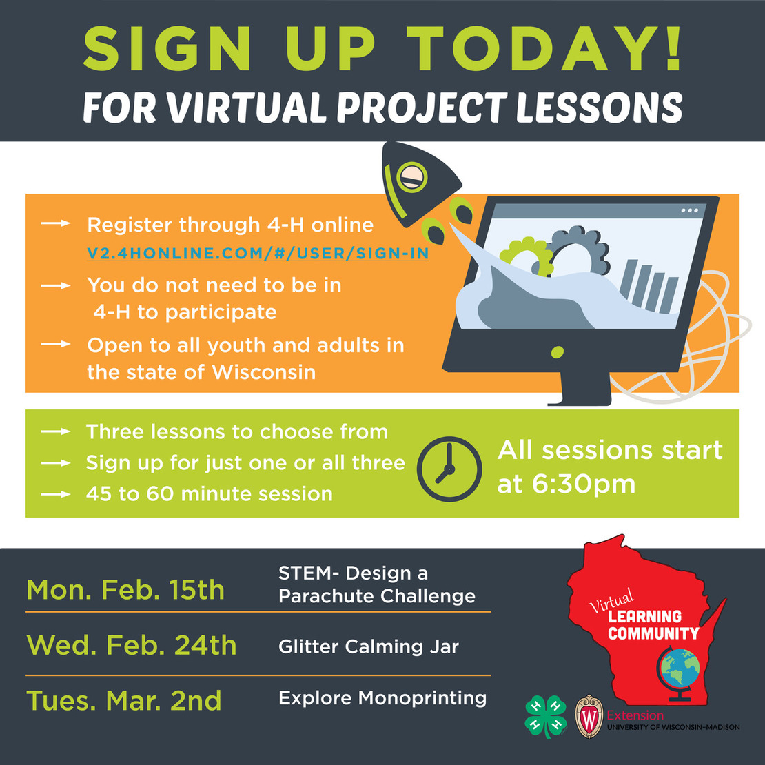 Sign up for Virtual project lesson