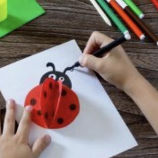 Image of drawing a ladybug