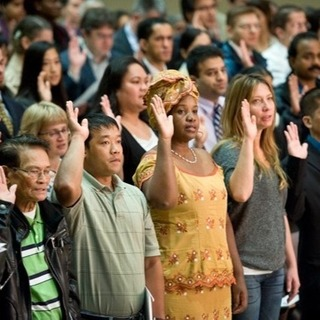 Citizenship naturalization ceremony