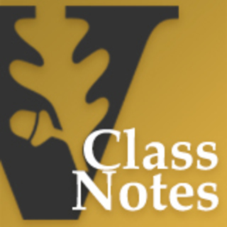 Class notes pages for each law class at Vanderbilt