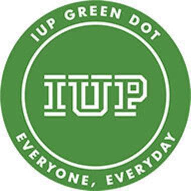 IUP Green DOT bystander intervention training logo
