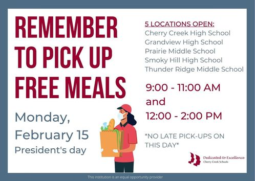 Free meal distribution