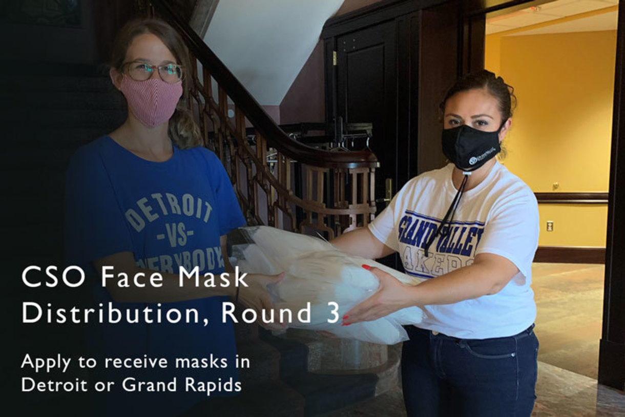Sign up to pick up face masks at a CSO location