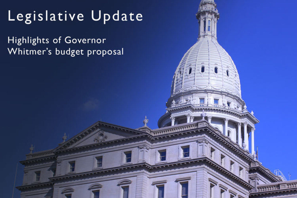 Update on Governor Whitmer's budget release