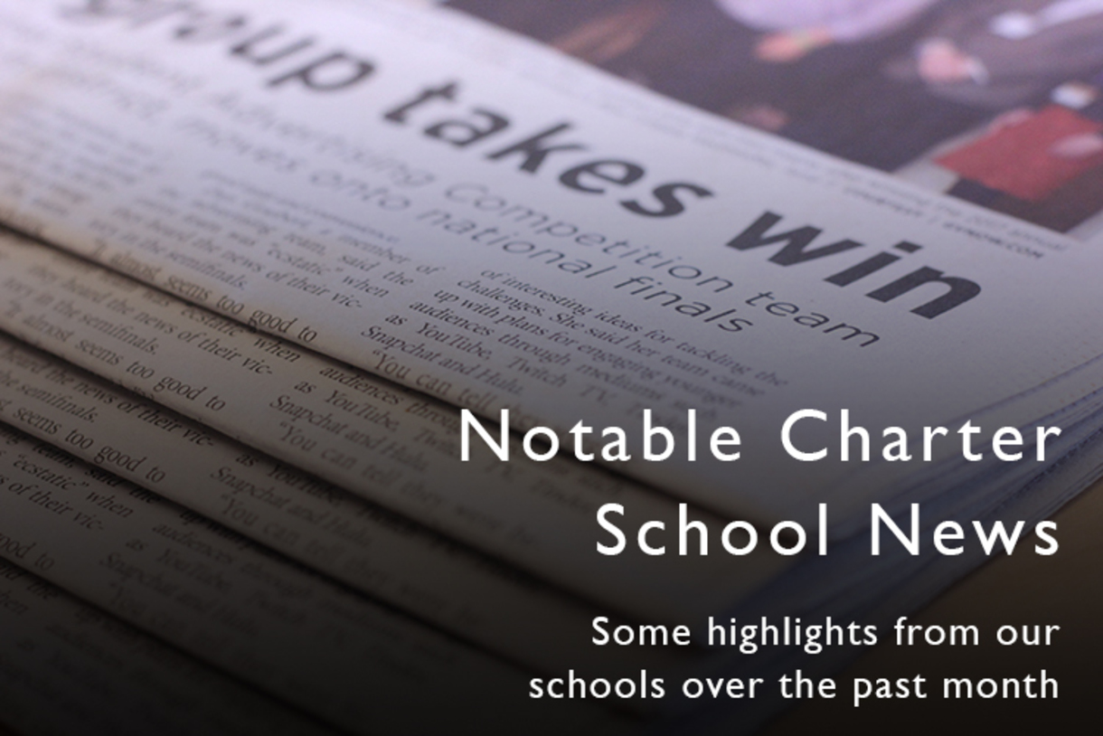 Notable charter school news from the past month