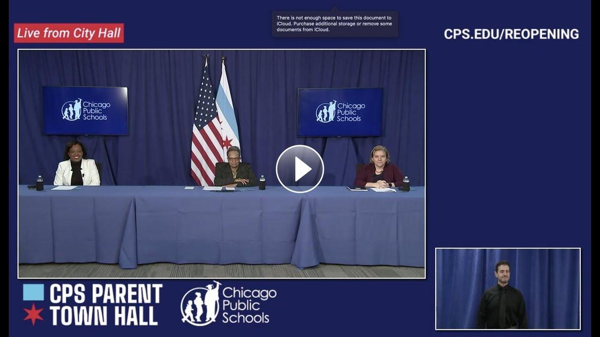CPS Parent Town Hall Video