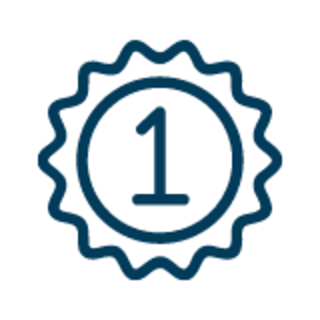 1st place badge graphic