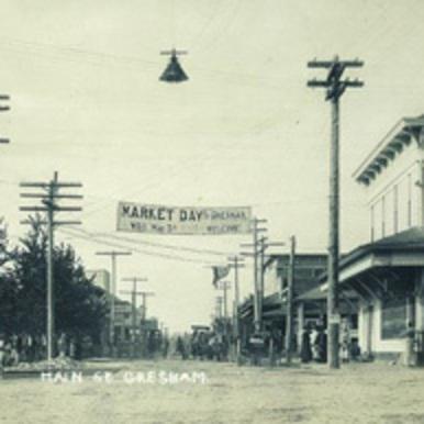 Photo of Gresham from 1905