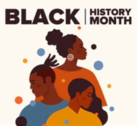 Graphic art of Black men and women