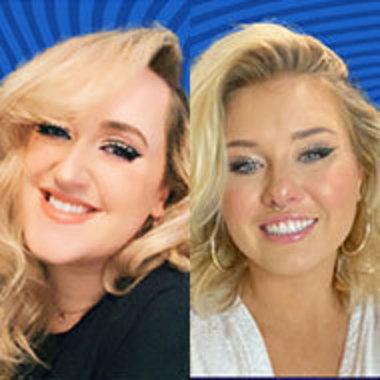 headshots of Brittany Broski, left, and Sarah Schauer