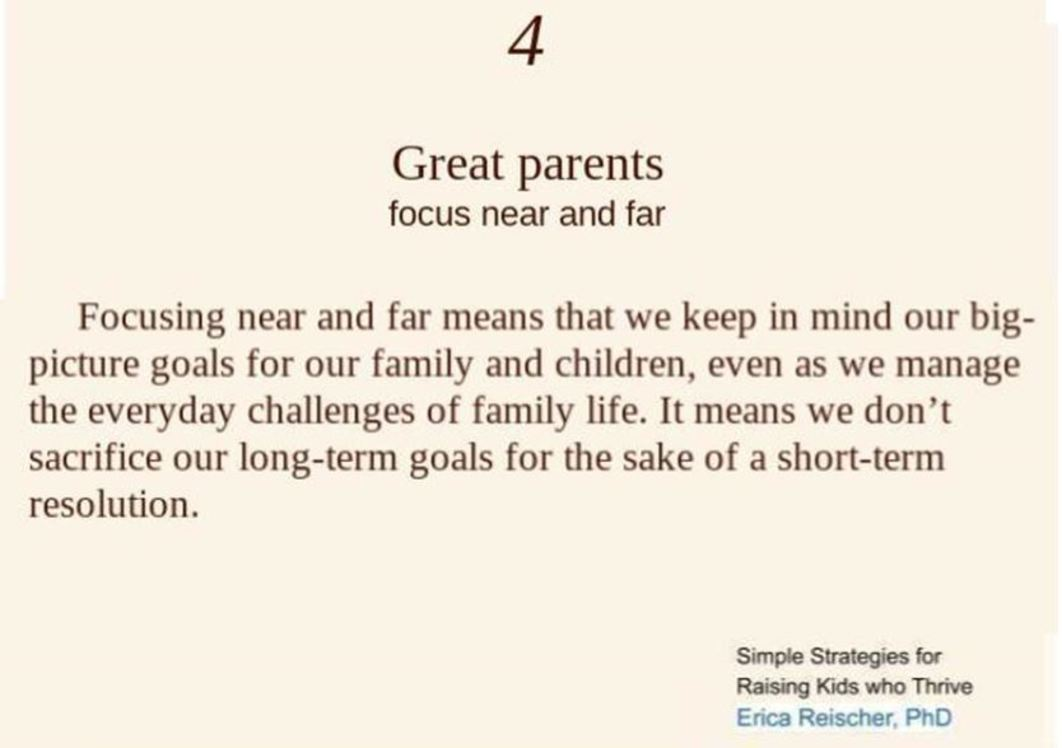 Great Parents Focus Near and Far - Simple Strategies #4
