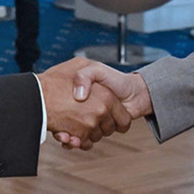 closeup of hands during handshake