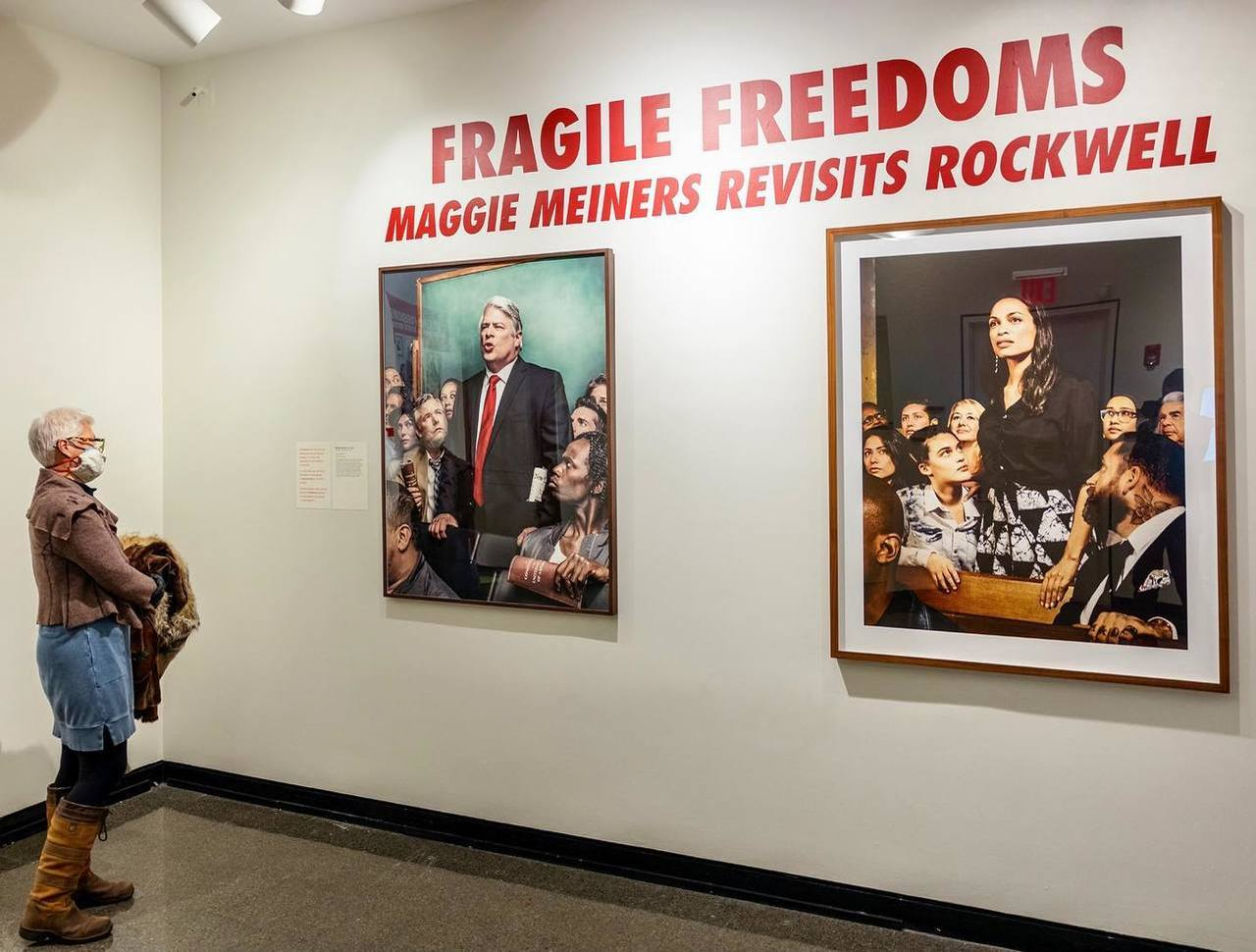 Fragile Freedoms: Maggie Meiners Revisits Rockwell exhibiiton opening