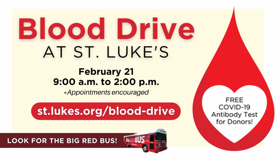 Blood drive webpage link
