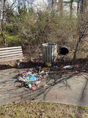 East Ponce de Leon PATH Trash