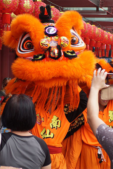 Chinese Lion from Chinese New Year in Singapore
