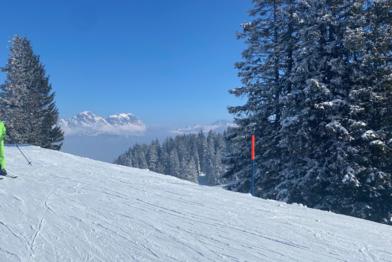 Ski slope in switzerland