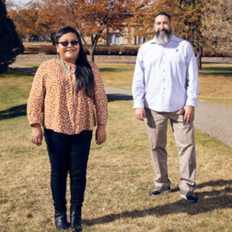FLC Mellon scholars standing outside