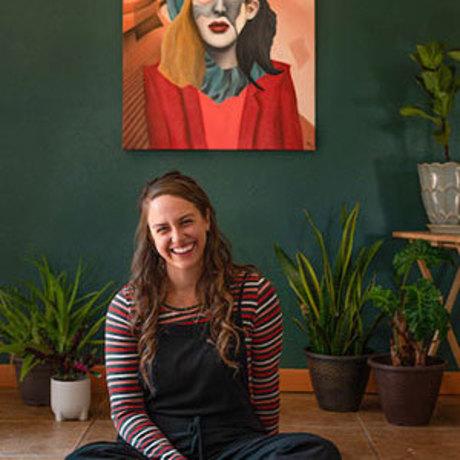 Hayley Kirman in her art studio