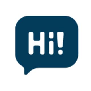 Hi! talking bubble graphic
